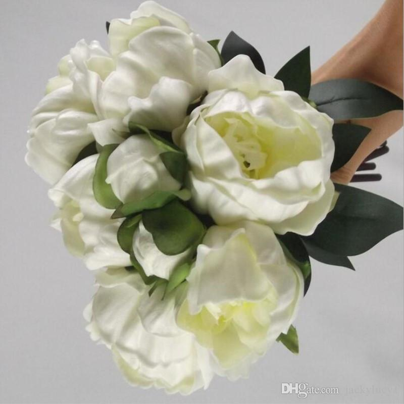 Upscale Peony Camellia Flower Bouquet Artificial Flowers for Home ...