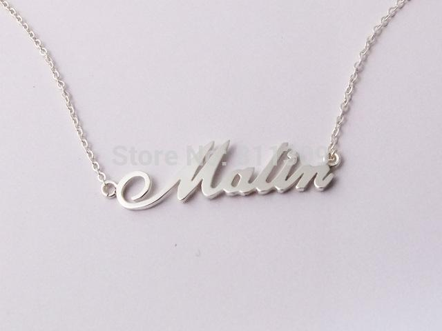 wholesale wholesale custom name necklace personalized necklace 925