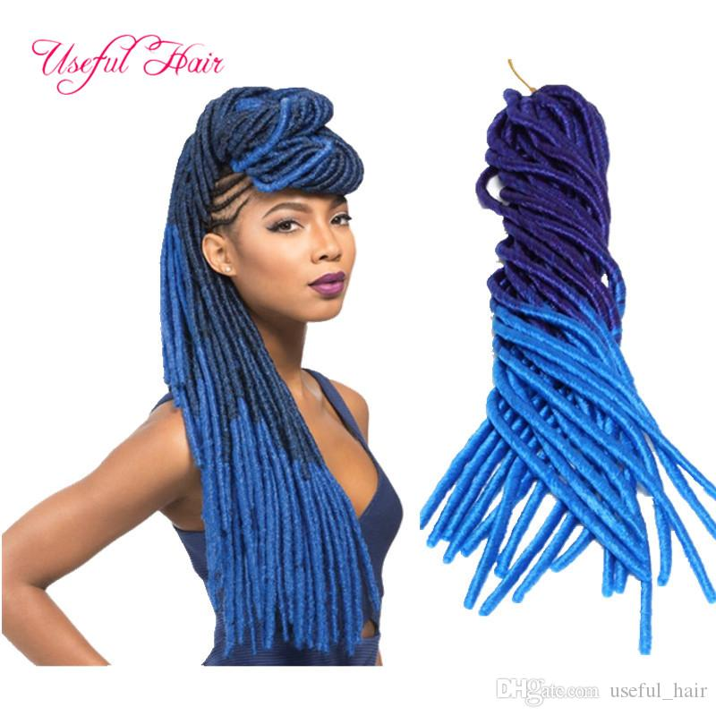 Cheap hair extension fast shipping two tone straight dreadlocks braids drop shipping synthetic 20inch faux locs synthetic braiding hair