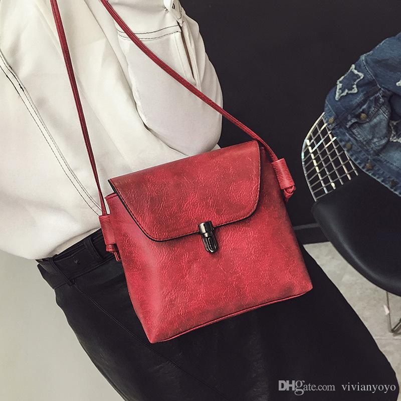 Female Small Bags 2018 Summer New Girls PU Messenger Bags Lady ... 7130f38603