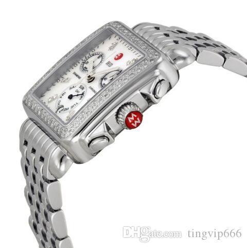Envío gratis Michele Signature DECO Diamonds MOP Diamond Dial para mujer MWW06P000099