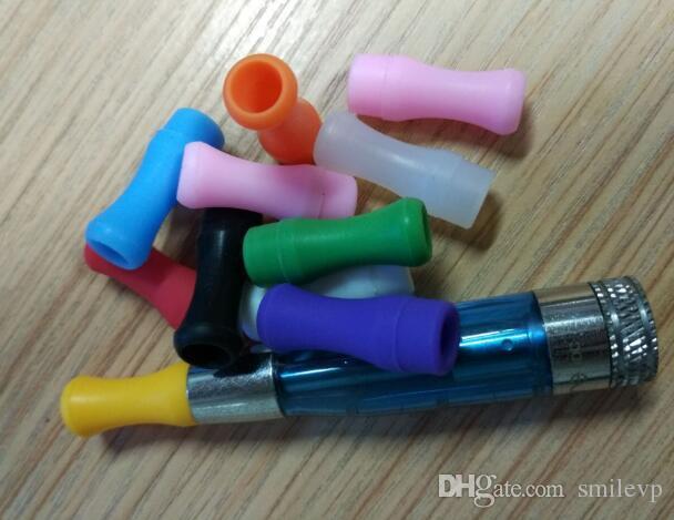 Bireysel şeker paketi 510 Silikon Ağızlık Kapak 510 Tek Kullanımlık Damla İpucu Renkli Silikon test kapakları kauçuk kısa ego Testi İpuçları Testi