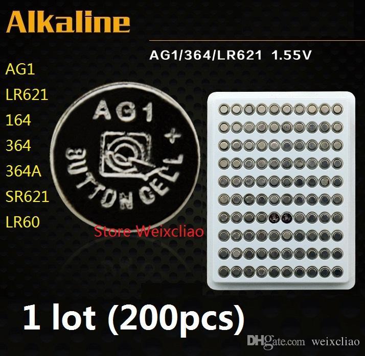 1 AG1 LR621 164 364 364A SR621 LR60 1.55 V pile bouton alcaline pile piles pack colis livraison gratuite