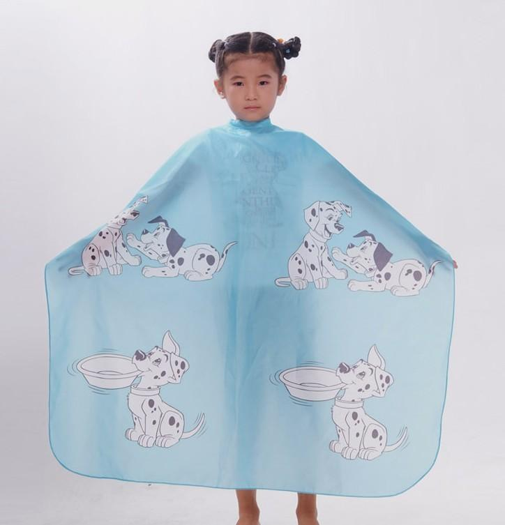 wholesale Blue color Hair Cut Cutting Salon Stylist Cape Nylon Barber Cloth for children