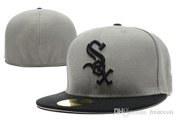 Retro White Sox Baseballmütze Gorras Front Team Sox Logo Sox Taillierte Hüte Gorras leitet Schweiß weg Erwachsene Sport Männer Frauen Chapeau Caps