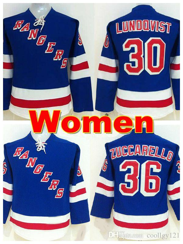 Women S New York Rangers Jerseys 30 Henrik Lundqvist Jersey 36 Mats  Zuccarello Jersey Team Color Ladies NY Rangers Hockey Jersey Stitched UK  2019 From ... d8f581f37