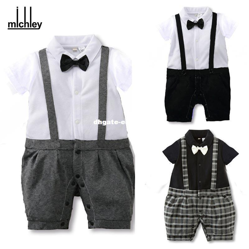 7a45cbf532a8 2019 Dhgate Baby Boys Romper Gentleman Bow Tie Suits 2016 New Spring ...