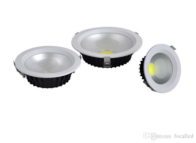 High Power LED Einbau Cob Downlight Dimmbar 10W 12W 15W 18W 21W 25W Dimmen LED Spot LED Deckenleuchte A110-240V + Treiber