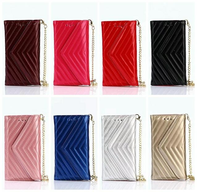 Multifunction 3 Fold Wallet Leather For Iphone 7 Plus 6 6S Luxury Vertical Flip Bling Pocket Frame Handbag Pouch Rose Gold Strap Purse