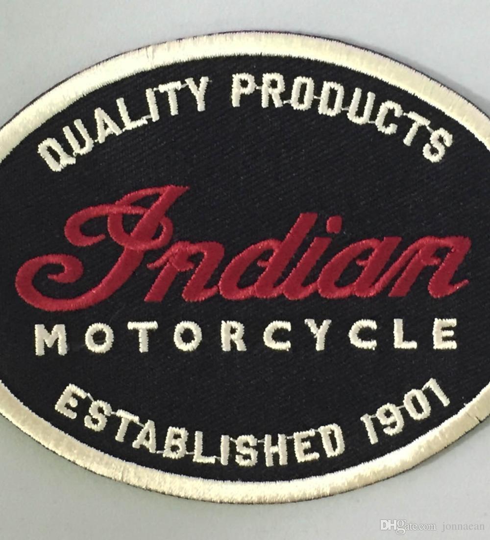 Hint Motosiklet Kaliteli Deri 1901 Oval Motosiklet Biker Kulübü MC Ön Ceket Yelek Yama Ayrıntılı Işlemeli Yama