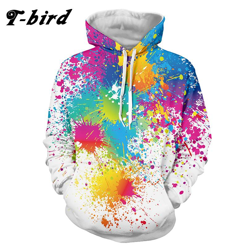 a374d9f5e43d Wholesale- T-bird 2017 Brand Casual Men Hoodies Hip Pop Pullovers ...