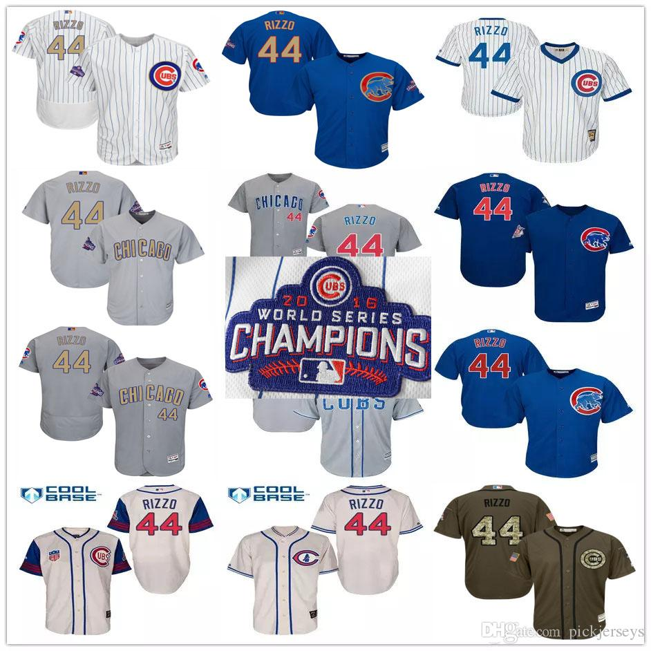 ae67123b9 coupon for jersey 2017 blue gold white gray 44 anthony rizzo chicago cubs  world series champions