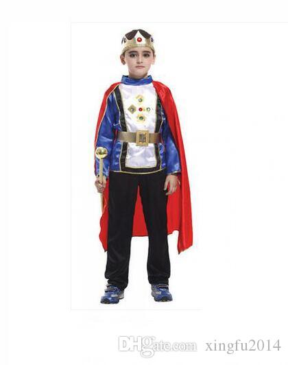 M~XL New 2017 Roman Warrior Knight Children Cosplay Hallowean Carnival Party Boy Prince King Kids Costumes Masquerade Suit