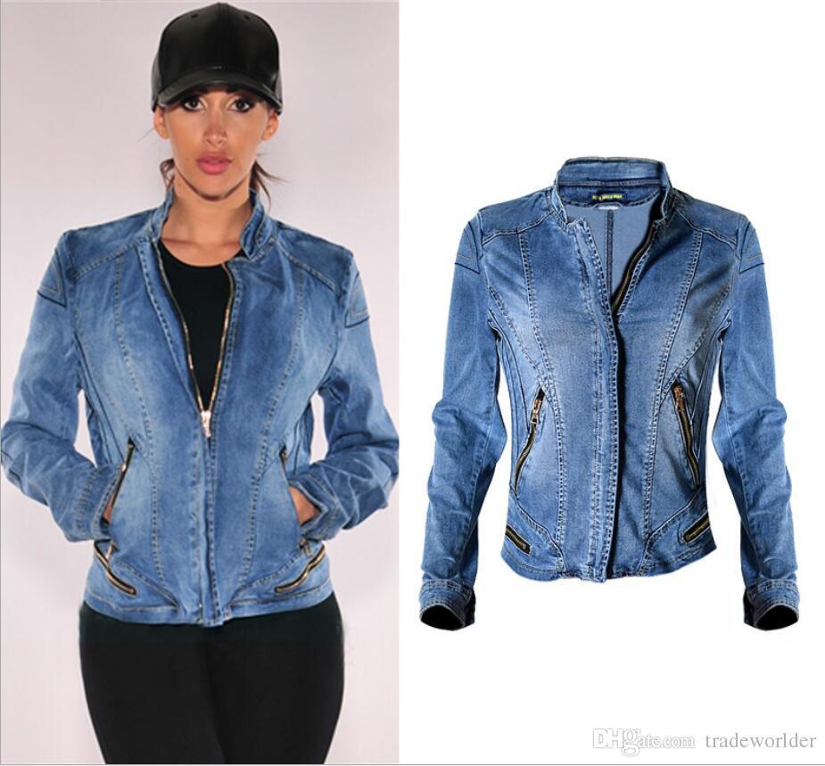 Spring Denim Jacket Women 2017 New Arrival Women Basic Coats Stand ...