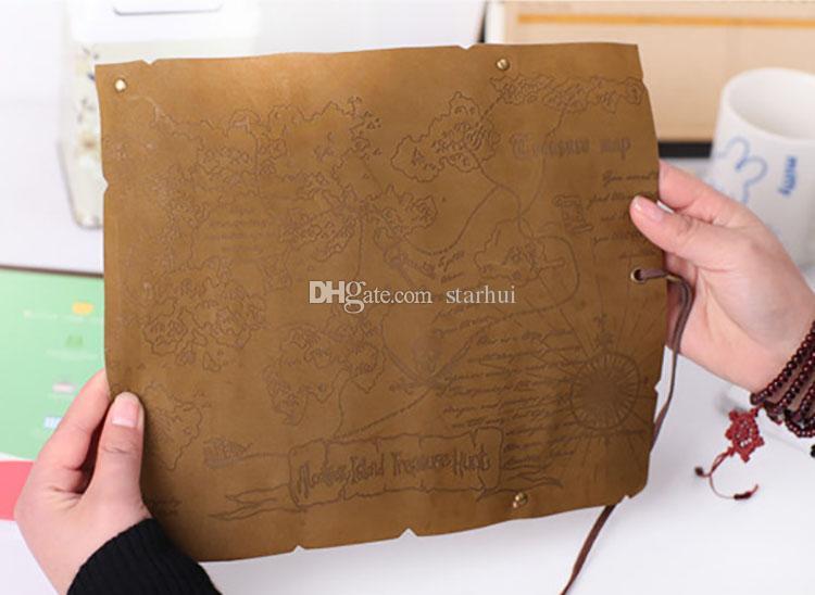 2017 قلم رصاص وسائد هوائية خريطة الكنز القلم حقيبة العتيقة بحري مقلمة كبيرة السعة الجلود حقيبة قلم رصاص لينة القلم صناديق شحن مجاني WX-P02