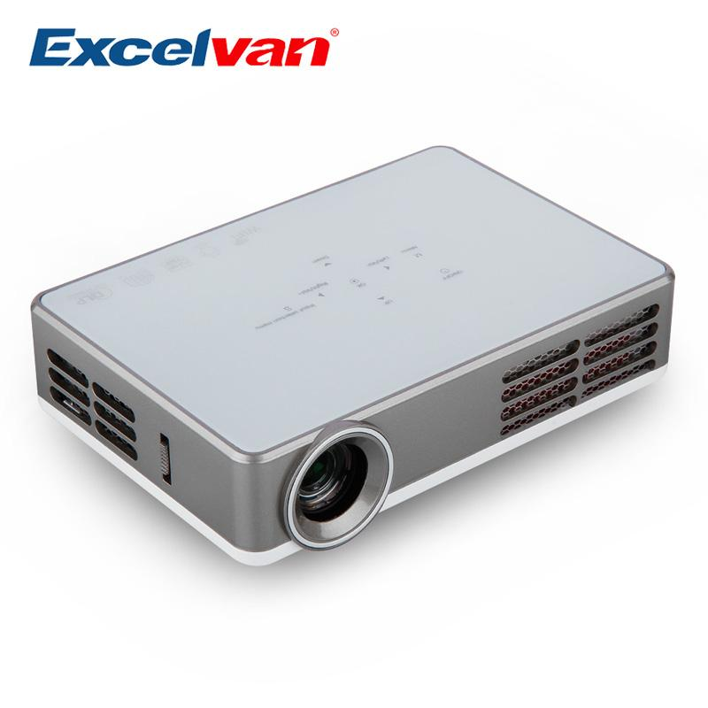 Wholesale-Excelvan LED9 Portable Android 4.4 DLP Projector WIFI Wireless 1280*800 3000 Lumens Home Proyector Support Blue-ray/Digital 3D