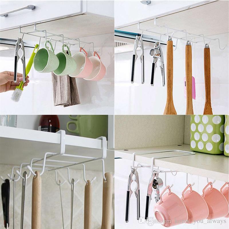 2018 Cup Mug Holder Rack Hook Holder Kitchen Storage Racks Cabinet ...