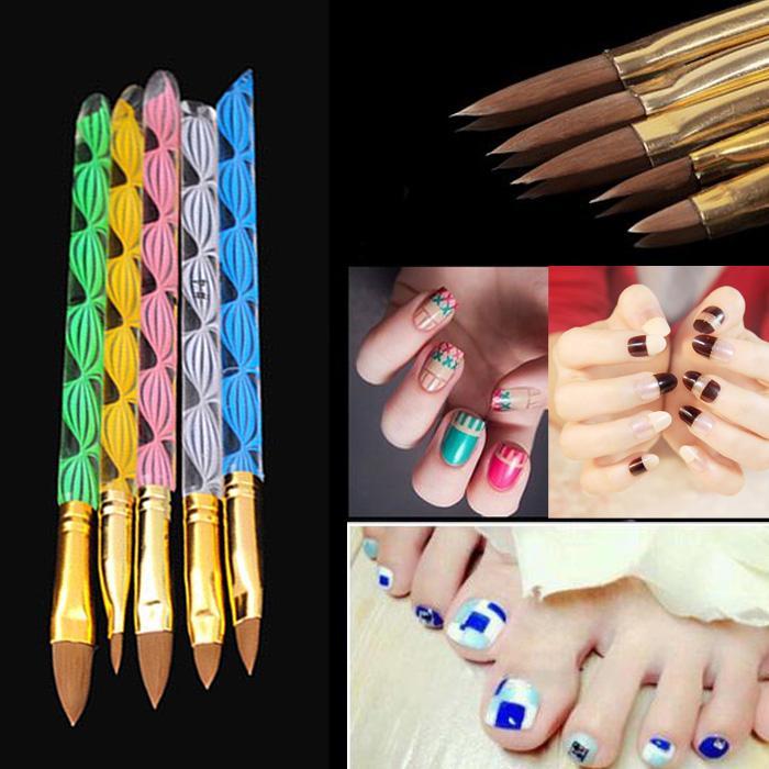 Wholesale Blue Zoo =2 Ways Sable Brush Acrylic Uv Gel Nail Art ...
