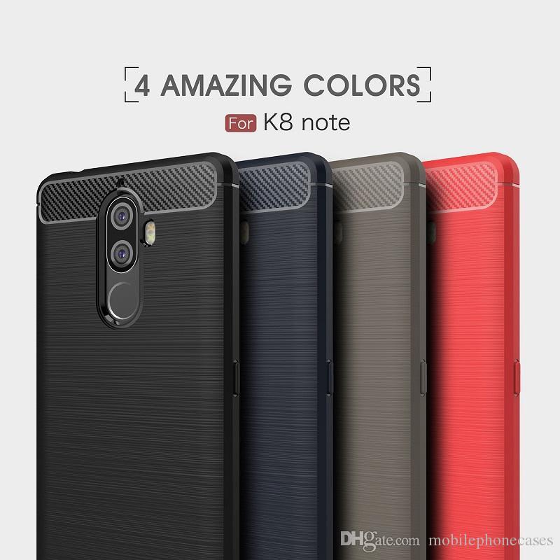 Lenovo K8 Not Için karbon Fiber Kılıfları ağır darbeye dayanıklı zırh kılıf Lenovo K8 Not kapak için 2017 sıcak satış