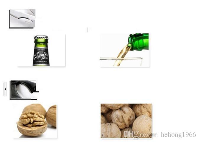 Stainless Steel Scissor Open Bottle Clipper Walnut Fish Clip Forfex Kitchen Shears Chicken Bone Scissors Multifunction 1 15rr R
