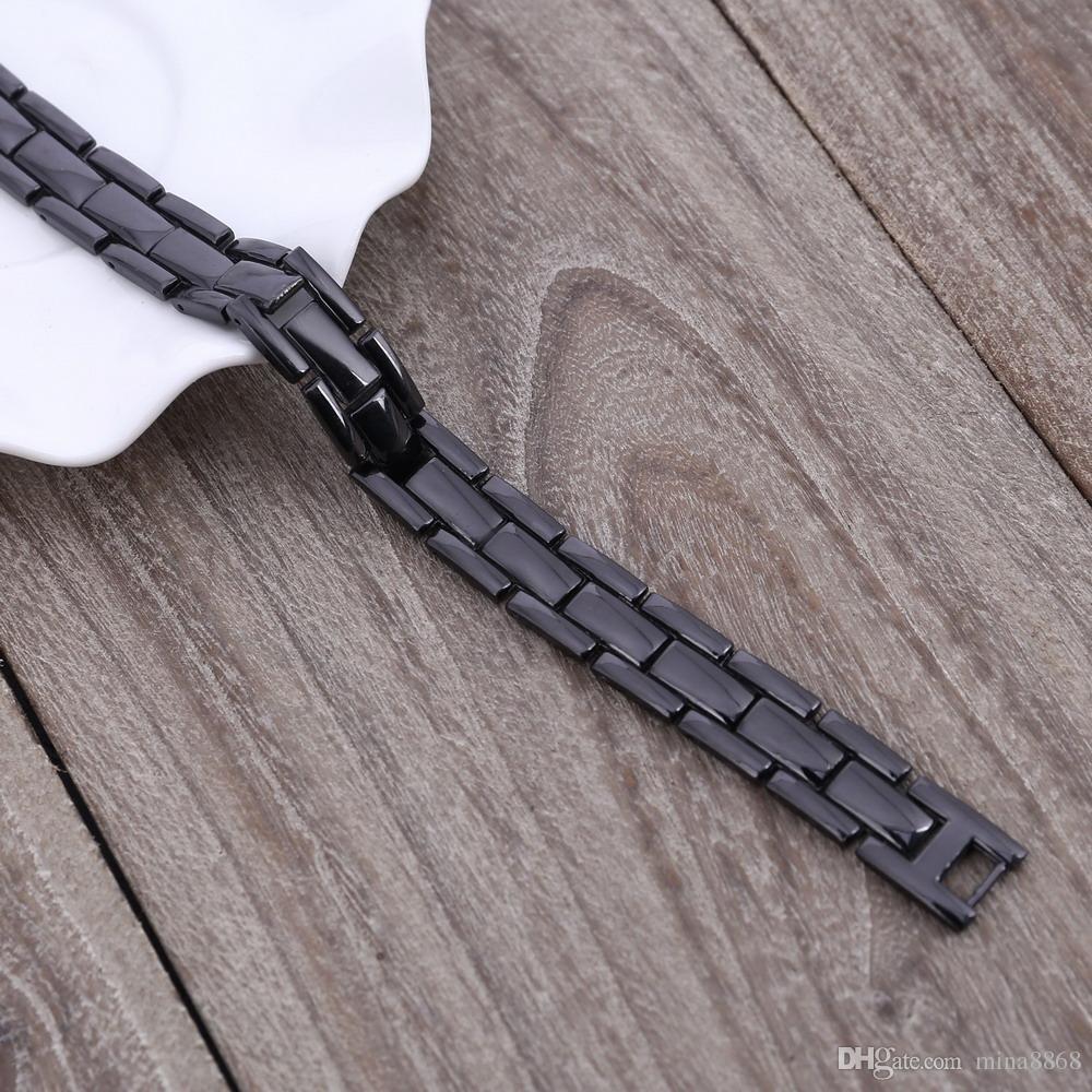 Hot Sales Men Healthy Magnetic Bracelet Bangle Punk Black Magnetic therapy Charm Bracelets Factory Price Wholesale