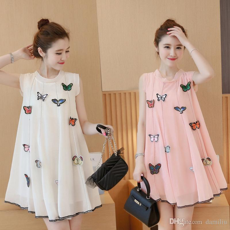 706a6bce8e7 2019 2017 Women Maternity Dresses Casual Pregnant Clothing Summer Maternity  Clothes Outwear Women Butterfly Dress For Pregnant XC2007 970  From  Damiliu