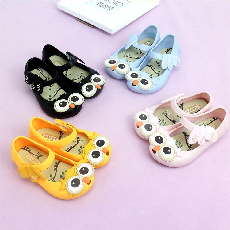 73c2dc01ca6a Owl Jelly Shoes Factory Direct Princess Shoes Hole Hole Shoes Wholesale