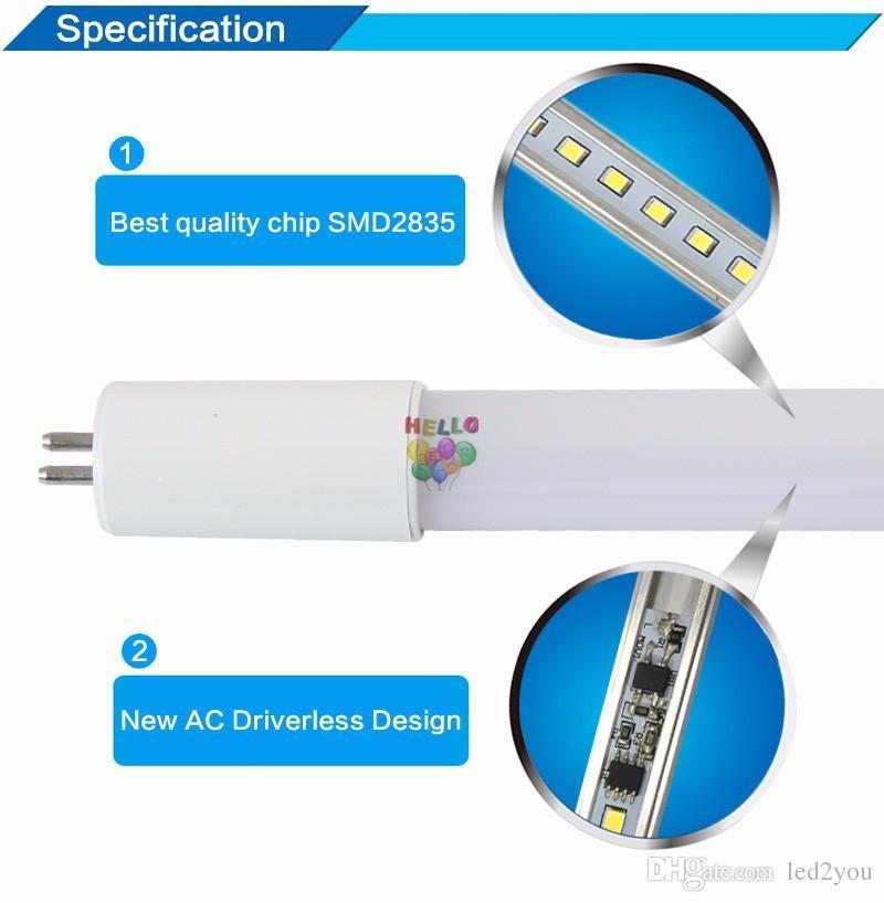 bi pin G5 Basis T5 führte Rohre Licht 2 ft 3 ft 4 ft Integrierte LED-Rohre mit neuem Design eingebautes Netzteil AC 110-265V