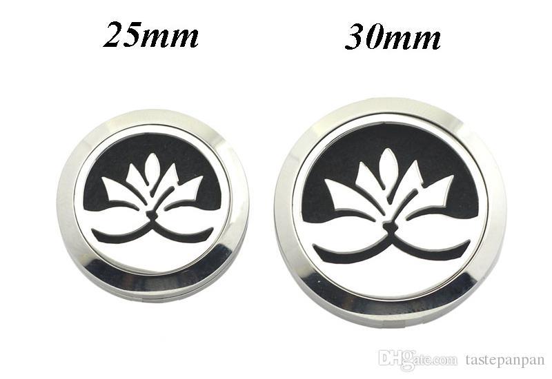gratuits coussins de feutre par pièce 25mm 30mm médaillon de parfum magnétique 316L en acier inoxydable huiles essentielles diffuseur médaillon bracelets