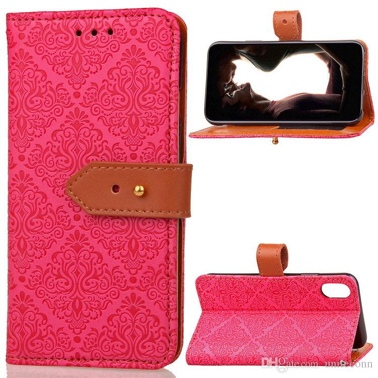 PU Leather Wallet Case For Apple iPhone4 5S 5C iPhone6 6S Plus 7G 7Plus2 Soft TPU Card Slots Flip Cover Lanyard