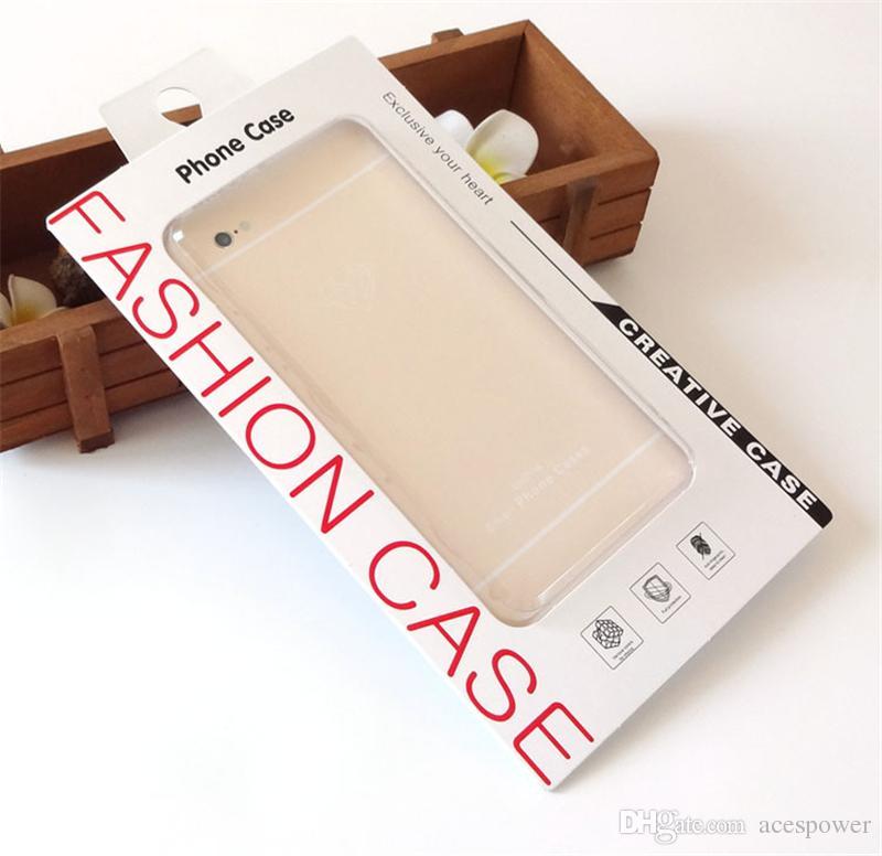 Boîte de conditionnement de vente au détail de téléphone portable universel avec emballage intérieur pour iPhone Samsung Case HTC Fit téléphone 4.7-5.5inch