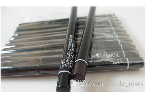 60 قطعة / الوحدة برو ماركة ماكياج الروتاري قابل للسحب الأسود براون جل كحل الجمال القلم