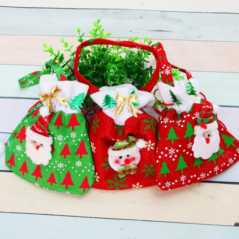 canvas christmas gift candy bags christmas bags drawstring favor gift package bulk set of multi style neon colored goodie bags sacks christmas outdoor
