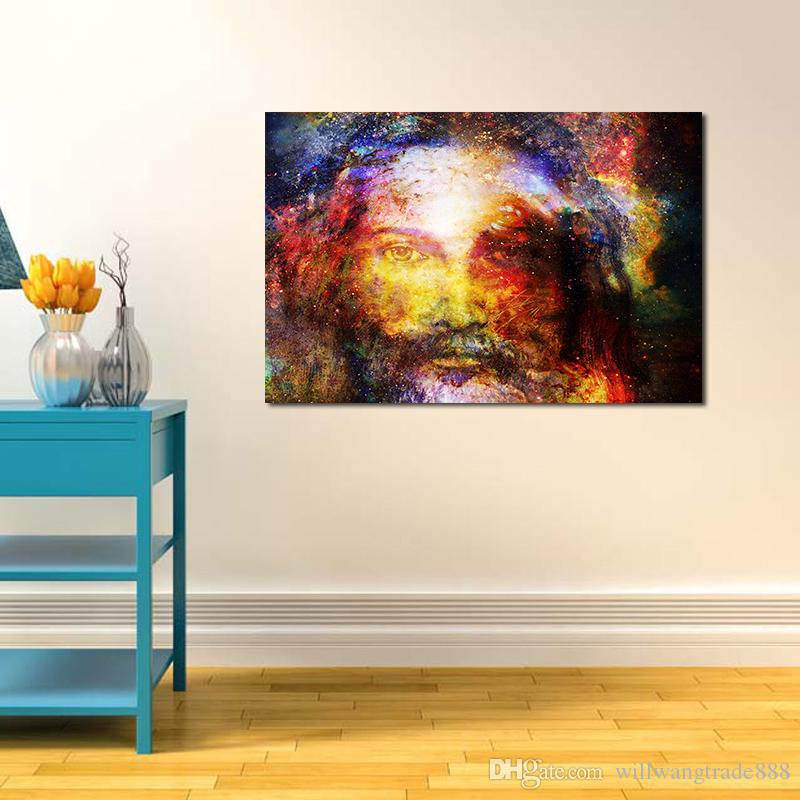 2018 Unframed Spray Printed Oil Painting Christian Starry Jesus Wall Decor Art On Canvas From Willwangtrade888 563