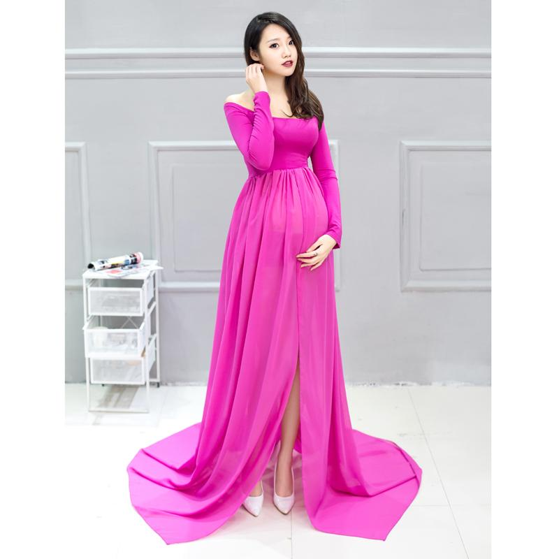 2017 Maternity Dress For Photo Shoot Long Sleeve Maternity Gown ...