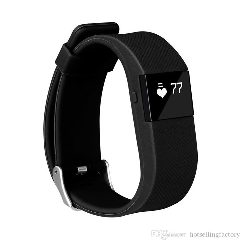 TW64S TW64 Fitbit Flex Smartband Carica HR Activity Wristband Wireless Heart Rate Monitor polso OLED Display Sport Bracciale Smart Band