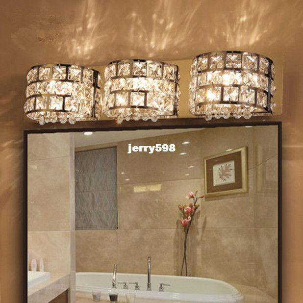 4 Light Modern Led Aisle Bathroom Crystal Wall Lamp Waterproof ...