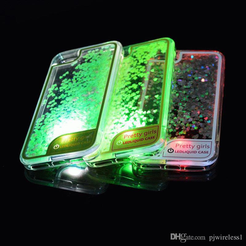 motorola e4 phone case. cool glitter quicksand case for motorola moto e4 metropcs boost running liquid dynamic soft tpu cover with led light oop bags c cell phone l
