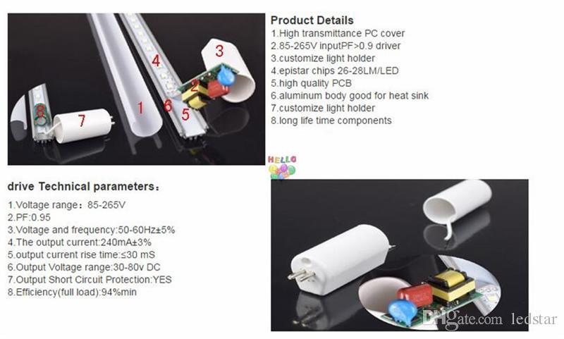 T5 LED 튜브 라이트 4피트 3피트 2피트 T5 형광 G5 LED 조명 9w 15w 18w 22w 4 발 통합 LED 램프 튜브 AC85-265V