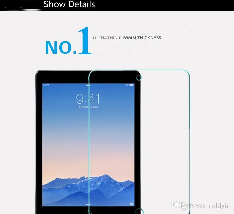 Закаленное стекло 0.3 мм 2.5 D 9Н водонепроницаемый протектор экрана для iPad мини 1/2/3 4 5 6 воздуха 2 Pro с 12.9 7.9 9.7-дюймовый планшетный ПК с розничной коробке