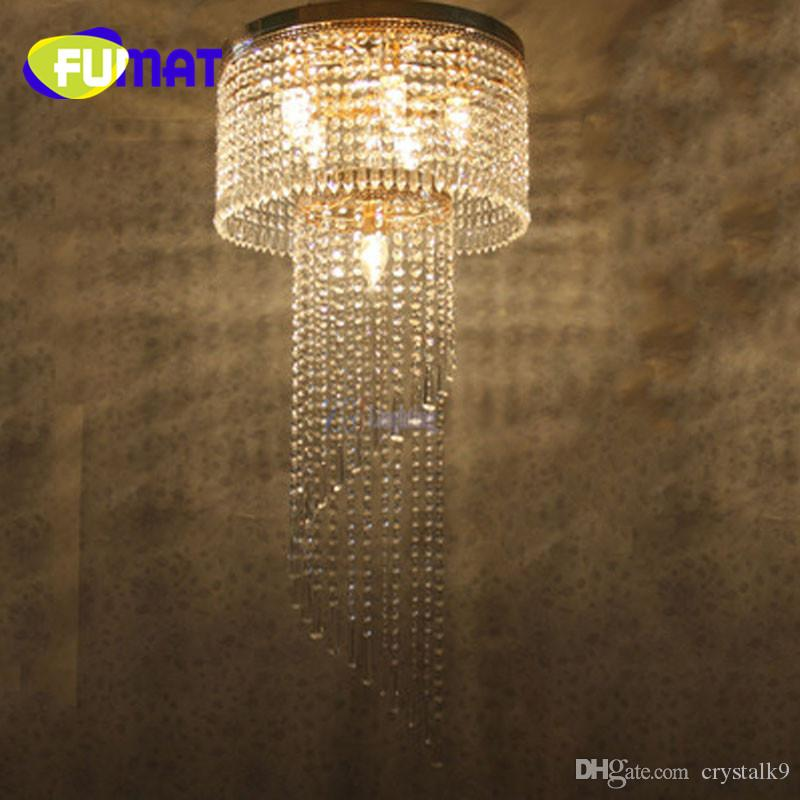 FUMAT LED Crystal Ceiling Light Circular Large