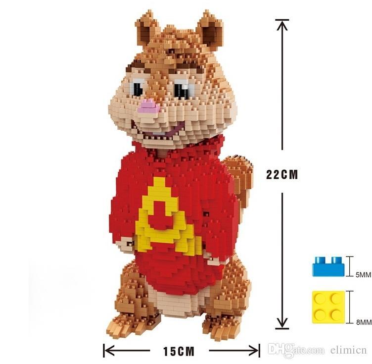Il grande formato Mini Blocchi del fumetto Wario Yoshi Figure Micro mattoni mattoni di plastica fai da te Mario costruzione Luigi Juguetes i bambini Giocattoli Anime Boy Gifts