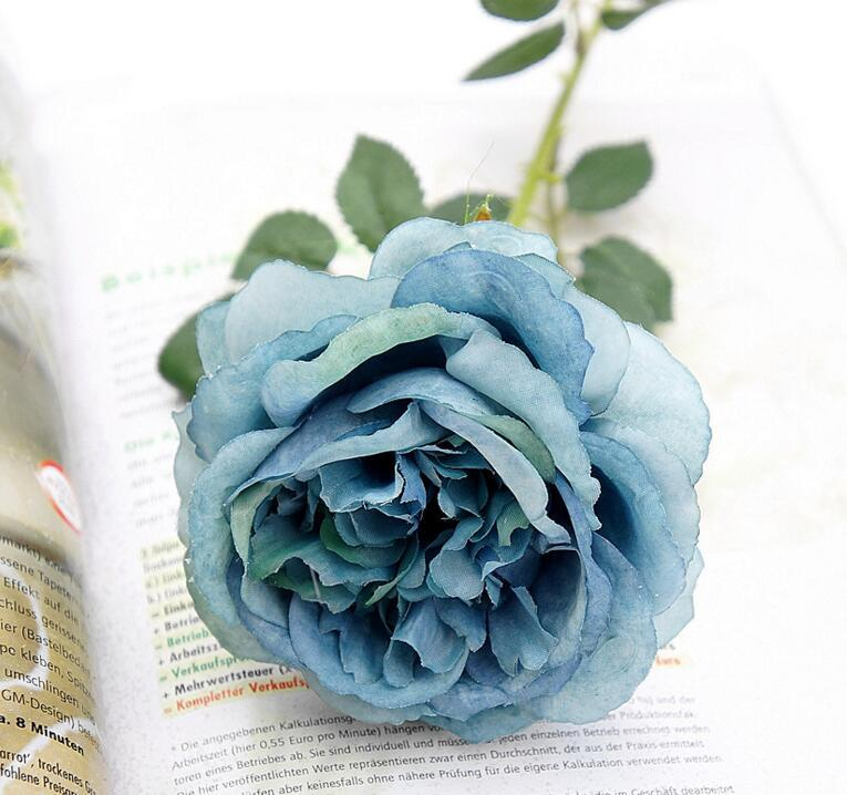 Rose Flowers Artificial Flowers Simulation Single Oil Painting Effect Tea Roses for Table Flowers Wedding Home decoration