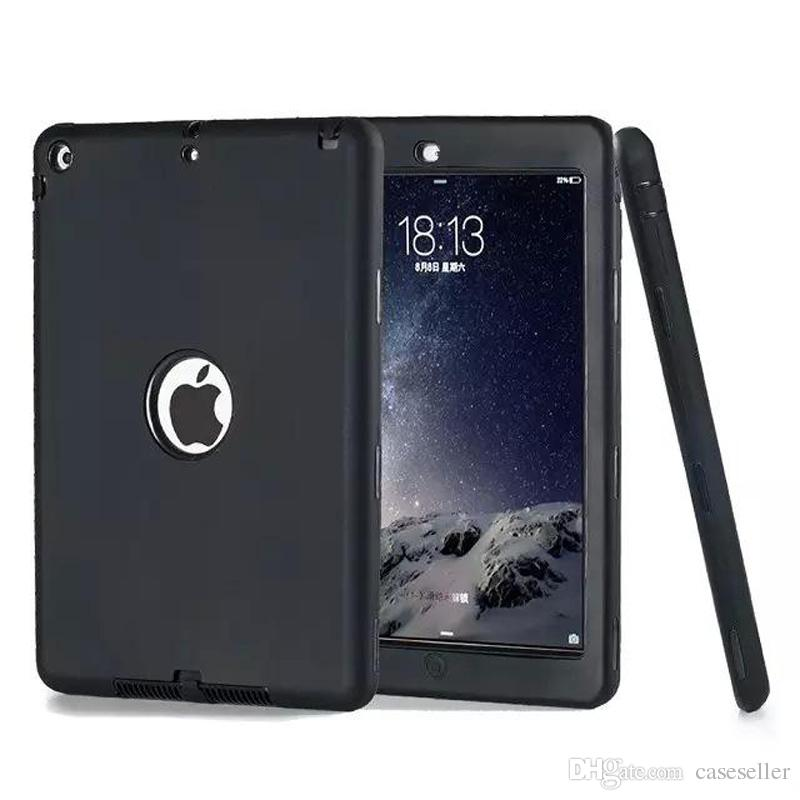 Defender shockproof Robot Case military Extreme Heavy Duty silicon cover for ipad pro 9.7 2 3 4 5 6 air mini 4