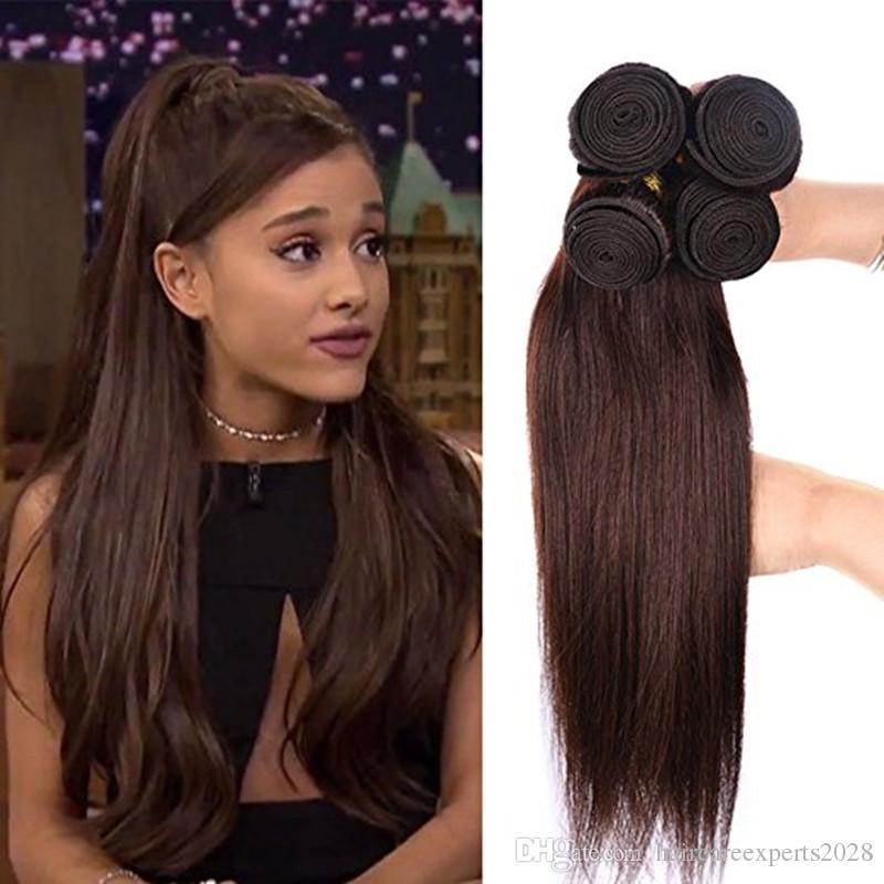 Elibess Hair Virgin Medium Auburn Straight Human Hair Weaves 3