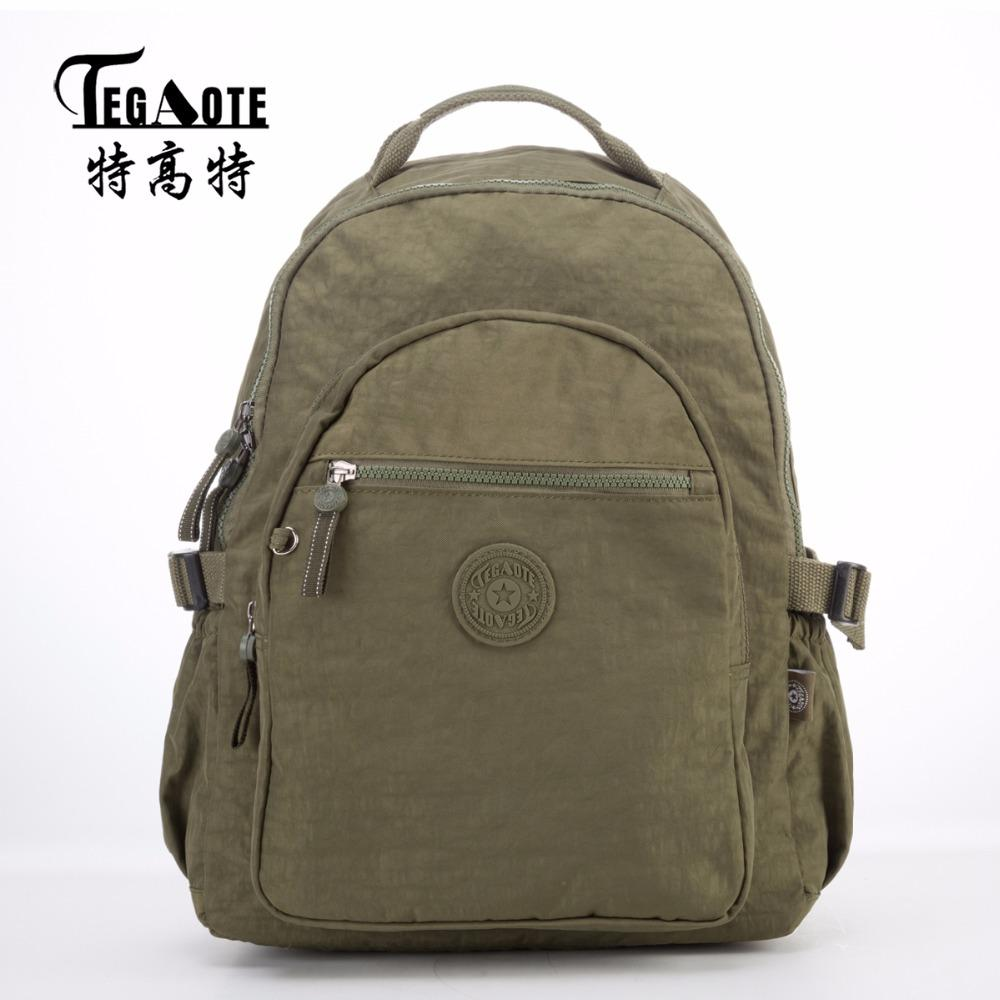 TEGAOTE Men Nylon Waterproof Backpack Women Mochila Feminina ...