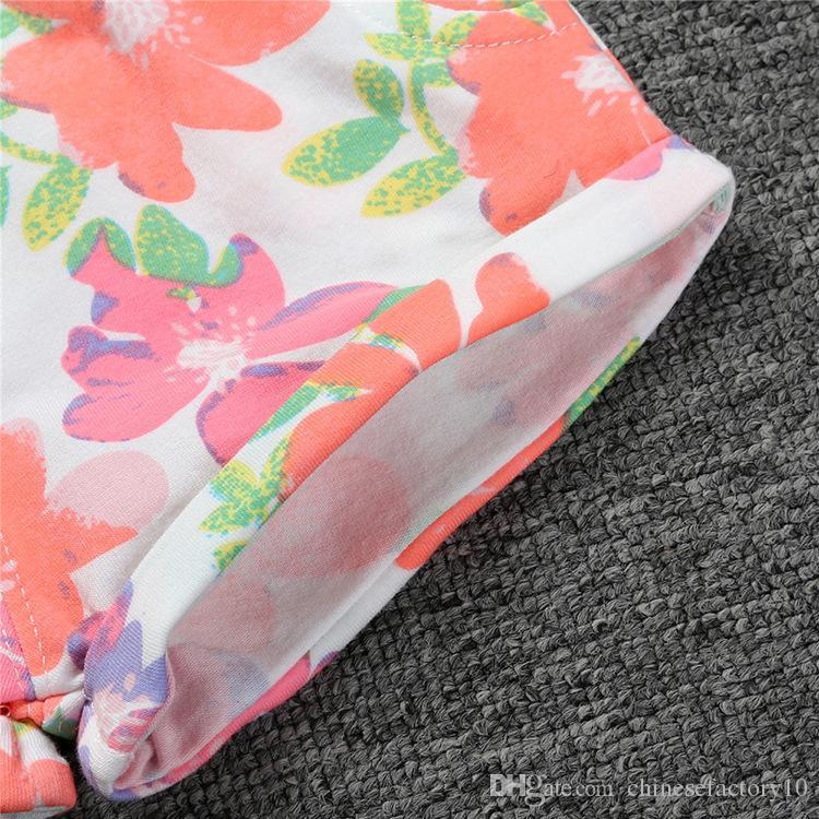 Baby-Jungen-Mädchen-Baumwollkurzschlüsse Säuglingskleinkind-Blumen gedruckte pp. Keucht Baby-Sommer-kurze breite elastische Beltline