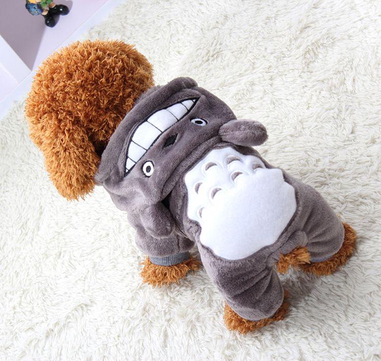 Yumuşak Sıcak Köpek Giyim Ceket Pet Kostüm Polar Giyim Köpekler Için Yavru Karikatür Kış Kapüşonlu Ceket Sonbahar Giysileri XS-XXL