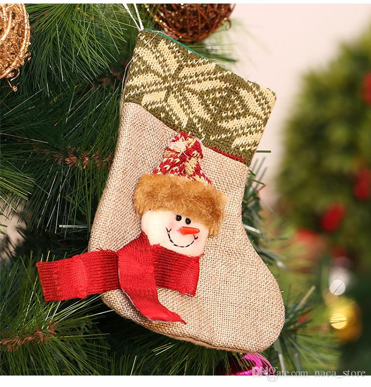 hot sale diy house christmas stocking gift holders children gifts candy bags cartoon stockings christmas tree decor santa claus snowman outdoor christmas - Christmas Stockings On Sale