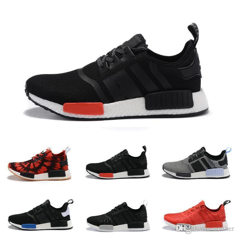d70d479da 2018 Cheap Wholesale New NMD R1 Runner PK Primeknit 2017 Men S   Women S NMD  Runner Primeknit Black White Oreo Glitch Camo With Box Best Running Shoes  For ...